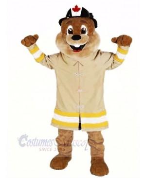 Fire Protection Beaver Mascot Costumes Cartoon