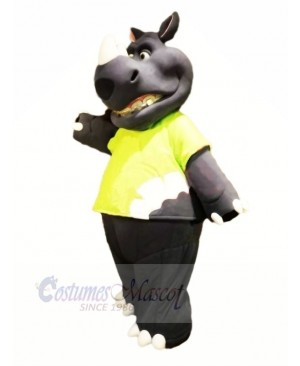 Strong  Rhino with Big Mouth Mascot Costumes Adult