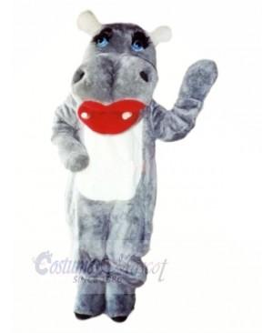 Lovely Grey Hippo Mascot Costumes Cartoon