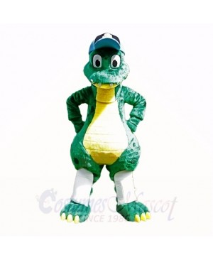 Top Quality Dinosaur With Blue Hat Mascot Costumes Cartoon