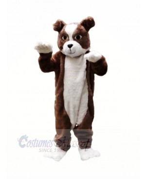 Plush Brown Bulldog Mascot Costumes Cartoon