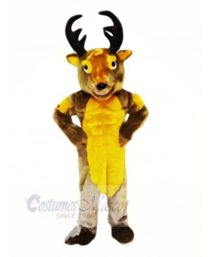 Power Muscular Deer Mascot Costumes Cartoon