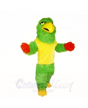 Green Falcon with Yellow Shirt Mascot Costumes School