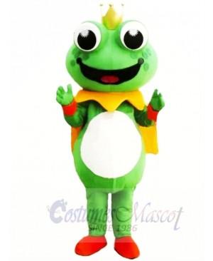Cartoon King Frog Mascot Costume