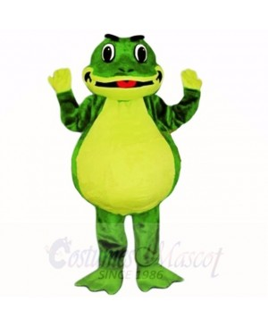 Smiling Friendly Lightweight Frog Mascot Costumes School