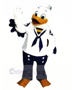 Cute Sailor Duck Mascot Costumes Cartoon