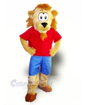 Funny Lion with Big Eyes Mascot Costumes Cartoon