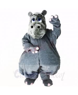 Grey Lightweight Hippo Mascot Costumes Cartoon