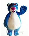 Cartoon Character Blue Bear Mascot Costume