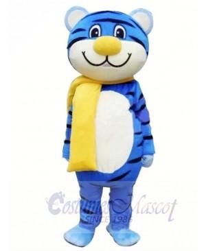 Blue Tiger Mascot Costume Free Shipping