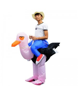 Ostrich Carry me Ride on Inflatable Costume Halloween Christmas Costume for Adult