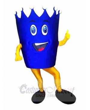Blue Crown Mascot Costume