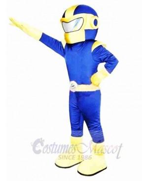 Blue & Yellow Superman Mascot Costume
