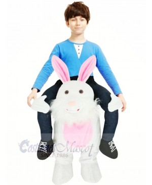 Carry Me Easter Bunny Piggy Back Mascot Kids Ride On Funny Fancy Dress Costume