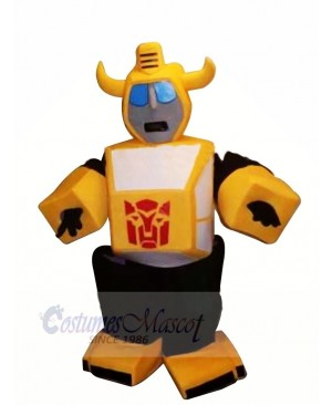 High Quality Yellow Robot Mascot Costumes Cartoon