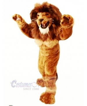 Friendly Power Lion Mascot Costumes Adult