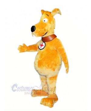 Cute Brown Dog Mascot Costume College