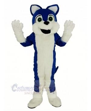 Blue and White Furry Husky Dog Mascot Costume Animal