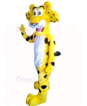 Funny Cheetah with Big Eyes Mascot Costume Cartoon