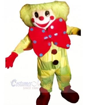 Clown With Big Bow Mascot Costume Cartoon