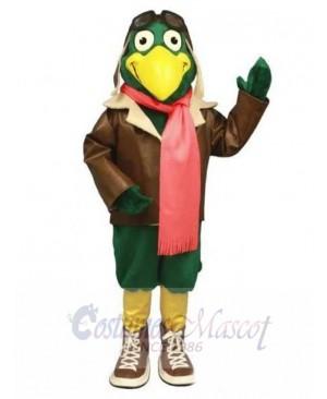 Green Pilot Bird Sky Mascot Costume Animal