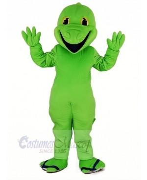Green Lizard Mascot Costume Cartoon