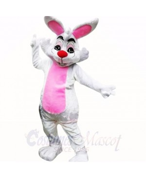 Smiling Glasses Easter Bunny Mascot Costumes Cheap