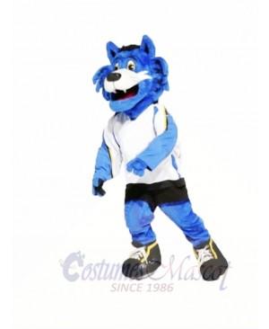 Blue Furry Tiger Mascot Costumes