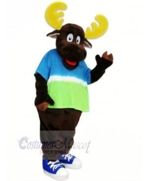 Lightweight Brown Moose Mascot Costumes