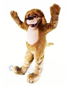 Happy Brown Plush Dog Mascot Costumes Adult