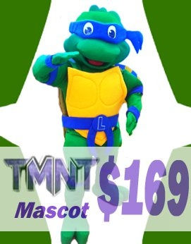 TMNT Teenage Mutant Ninja Turtle Leonardo Adult Character Halloween Party Carnival Mascot Costume