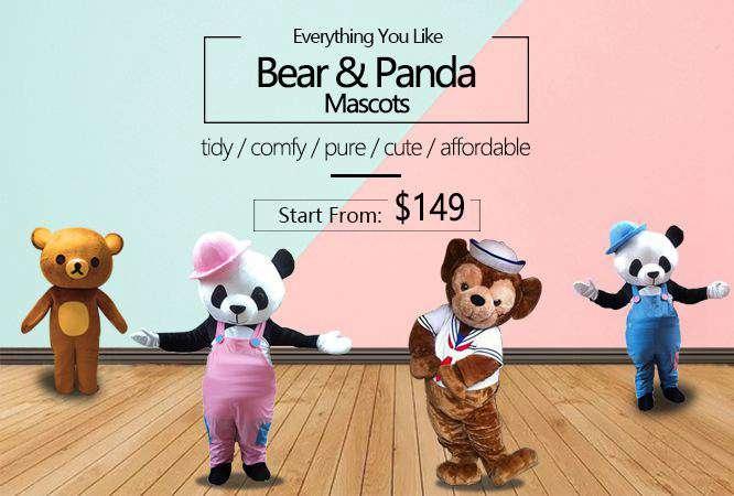 bear mascot costumes adult